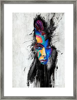 Facial Expressions Framed Print by Rafael Salazar