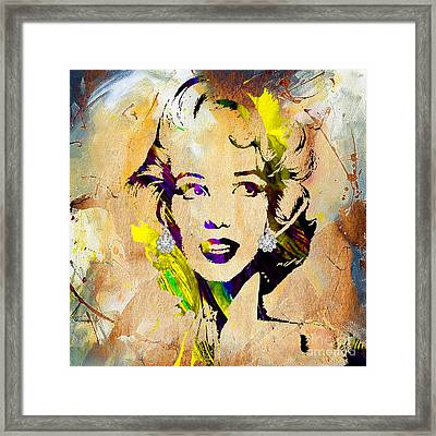 Marilyn Monroe Diamond Earring Collection Framed Print by Marvin Blaine