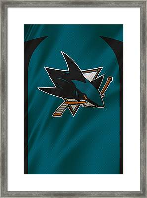 San Jose Sharks Framed Print by Joe Hamilton