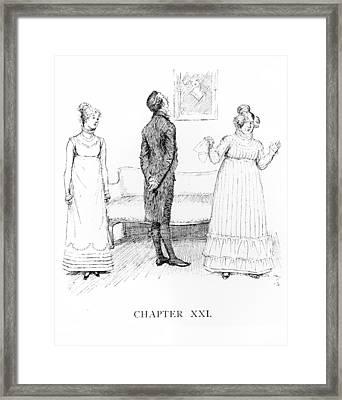 Scene From Pride And Prejudice By Jane Austen Framed Print by Hugh Thomson