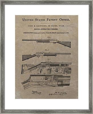 1900 Firearm Patent  Framed Print by Dan Sproul