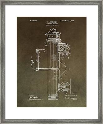 1900 Truck Patent Framed Print by Dan Sproul
