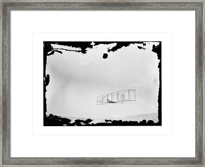 1902 Wright Brothers Double-rudder Glider Framed Print by MMG Archives