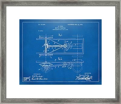 1903 Henry Ford Model T Patent Blueprint Framed Print by Nikki Marie Smith