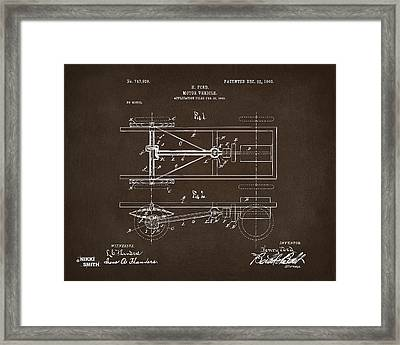 1903 Henry Ford Model T Patent Espresso Framed Print by Nikki Marie Smith