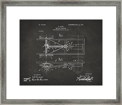 1903 Henry Ford Model T Patent Gray Framed Print by Nikki Marie Smith
