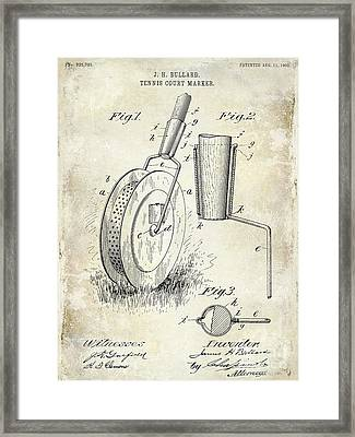 1903 Tennis Court Marker Patent Drawing Framed Print by Jon Neidert