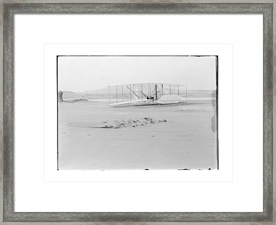 1903 Wright Brothers Damaged Airplane Framed Print by MMG Archives