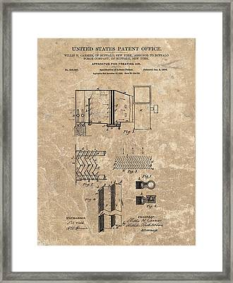1906 Air Conditioner Patent Framed Print by Dan Sproul