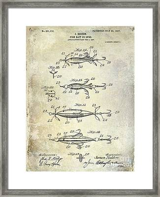 1907 Fishing Lure Patent Framed Print by Jon Neidert
