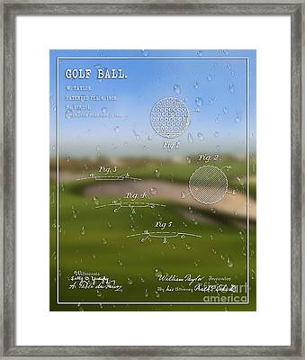 1908 Golf Ball Patent Art William Taylor 1 Framed Print by Nishanth Gopinathan