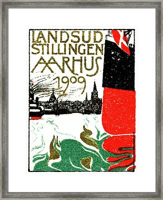 1909 Arhus Denmark Expo Poster Framed Print by Historic Image
