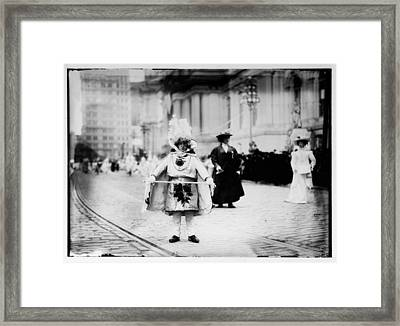 1909 Mummers Parade Framed Print by Bill Cannon
