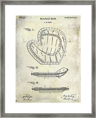 1910 Baseball Patent Drawing Framed Print by Jon Neidert