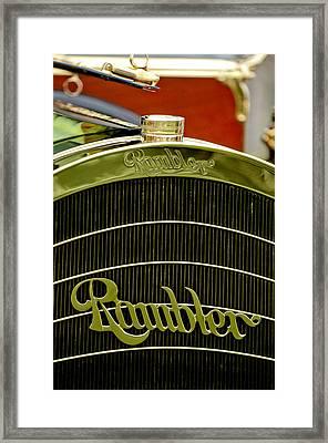 1910 Rambler Model 54 5 Passenger Touring Hood Ornament Framed Print by Jill Reger