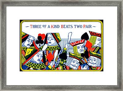 1910 Three Of A Kind Framed Print by Historic Image