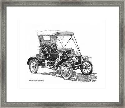 1911 Ford Model T Tin Lizzie Framed Print by Jack Pumphrey