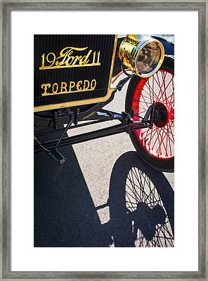 1911 Ford Model T Torpedo Grille Emblem Framed Print by Jill Reger