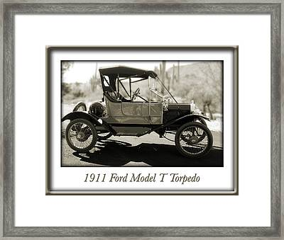 1911 Ford Model T Torpedo Framed Print by Jill Reger