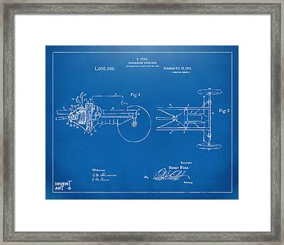 1911 Henry Ford Transmission Patent Blueprint Framed Print by Nikki Marie Smith