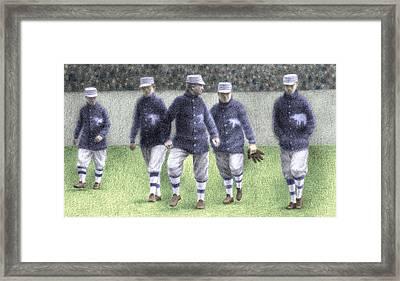 1911 Philadelphia Athletics Framed Print by Steve Dininno