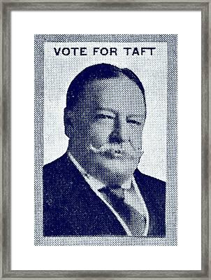 1912 Vote Taft For President Framed Print by Historic Image