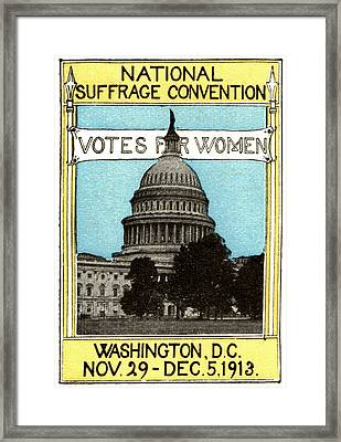 1913 Votes For Women Framed Print by Historic Image