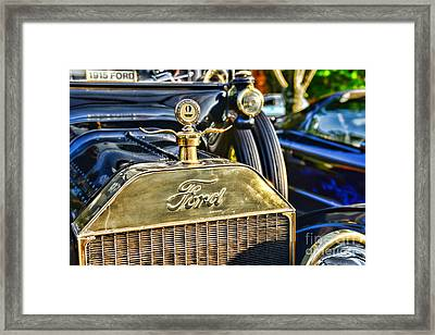 1915 Ford Brass Grill Framed Print by Paul Ward
