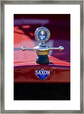 1915 Saxon Roadster Hood Ornament Framed Print by Jill Reger