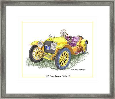 1915 Stutz Bearcat Framed Print by Jack Pumphrey