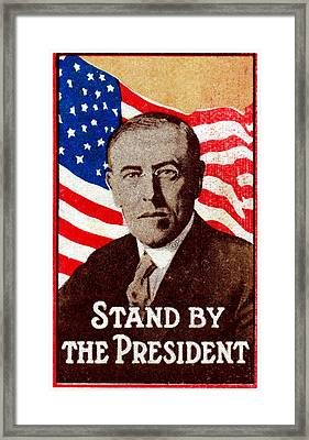 1916 Support President Wilson Framed Print by Historic Image