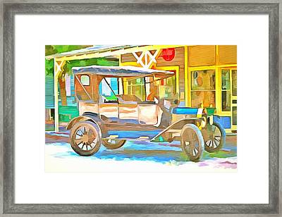 1916 Vintage Model T Ford Framed Print by L Wright