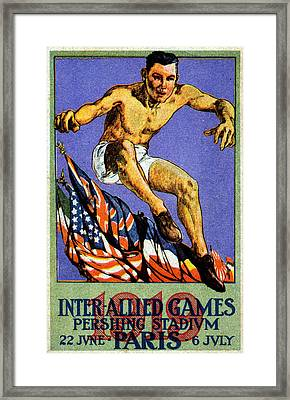 1919 Allied Games Poster Framed Print by Historic Image