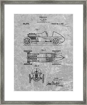 1920 Automobile Patent Framed Print by Dan Sproul