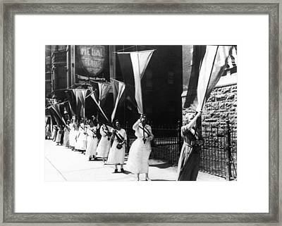 1920 Suffrage Demonstrators Framed Print by Underwood Archives