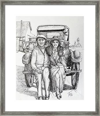 1920s Couple Framed Print by Art By - Ti   Tolpo Bader