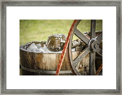 1920's Ice Cream Maker Framed Print by Bradley Clay