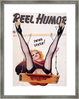 1920s Usa Reel Humour Magazine Cover Framed Print by The Advertising Archives