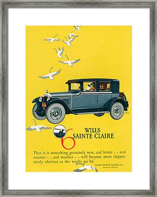 1920s Usa Wills-sainte Claire Magazine Framed Print by The Advertising Archives