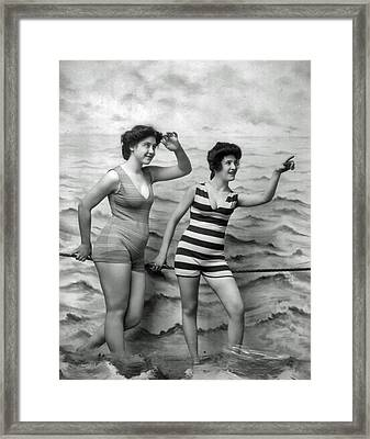 1920's Vintage Bathing Beauties Framed Print by Jeff Taylor