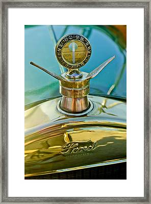 1923 Ford Model T Hood Ornament Framed Print by Jill Reger