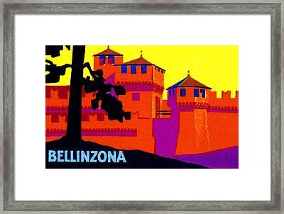 1925 Bellizona Switzerland Framed Print by Historic Image