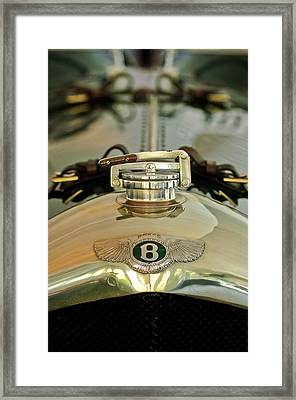 1925 Bentley 3-liter 100mph Supersports Brooklands Two-seater Radiator Cap Framed Print by Jill Reger