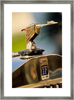 1925 Isotta Fraschini Tipo 8a S Corsica Boattail Speedster Hood Ornament Framed Print by Jill Reger