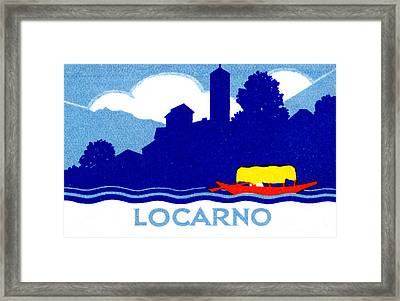 1925 Locarno Switzerland Framed Print by Historic Image