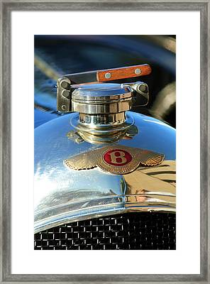 1927 Bentley Hood Ornament Framed Print by Jill Reger