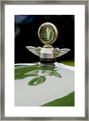 1927 Chandler 4-door Hood Ornament Framed Print by Jill Reger