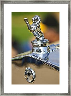 1927 Franklin Sedan Hood Ornament Framed Print by Jill Reger