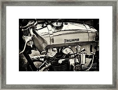 1927 Triumph Tt Racer Motorcycle Sepia  Framed Print by Tim Gainey