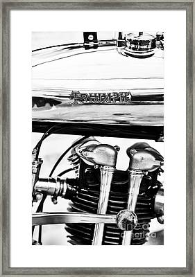 1927 Triumph Tt Racer Motorcycle  Framed Print by Tim Gainey